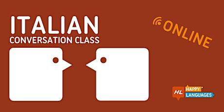 Italian Online Conversation Class tickets
