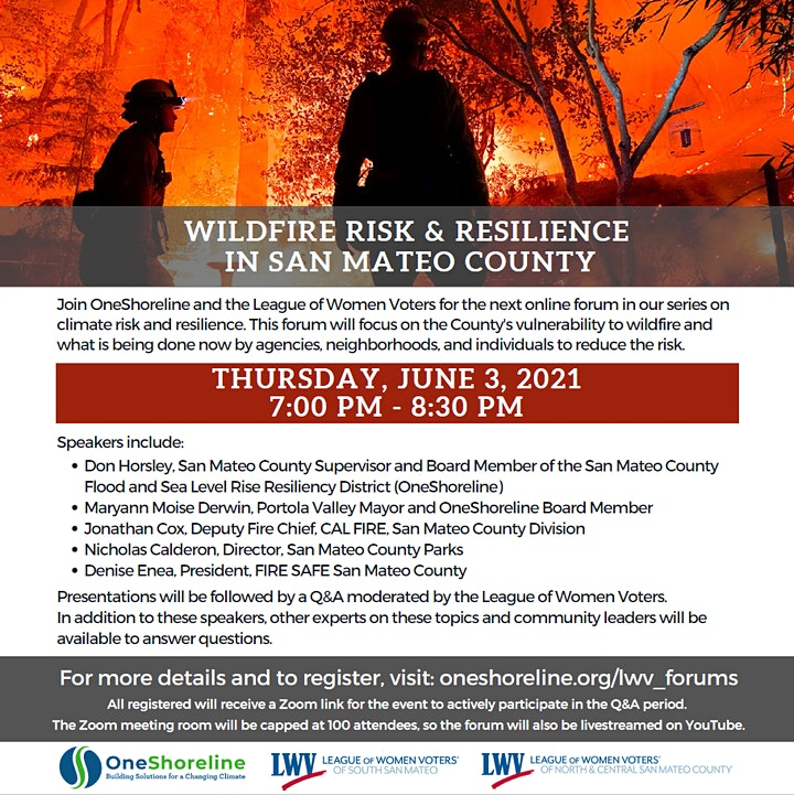 Wildfire Risk & Resilience in San Mateo County image