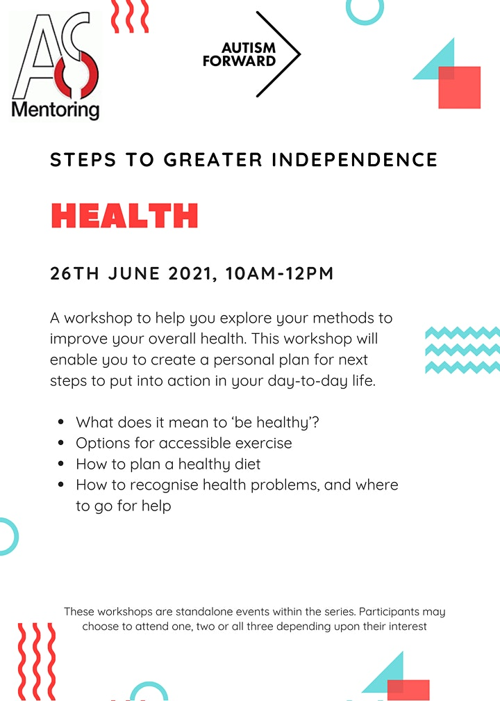 Steps to greater independence- Health image