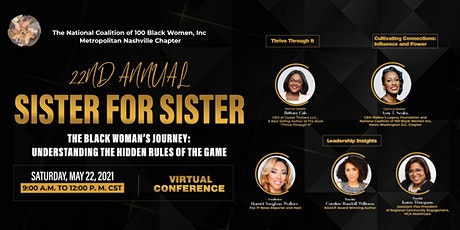 2021 Annual Sister for Sister Conference Metropolitan  Nashville 100BW tickets