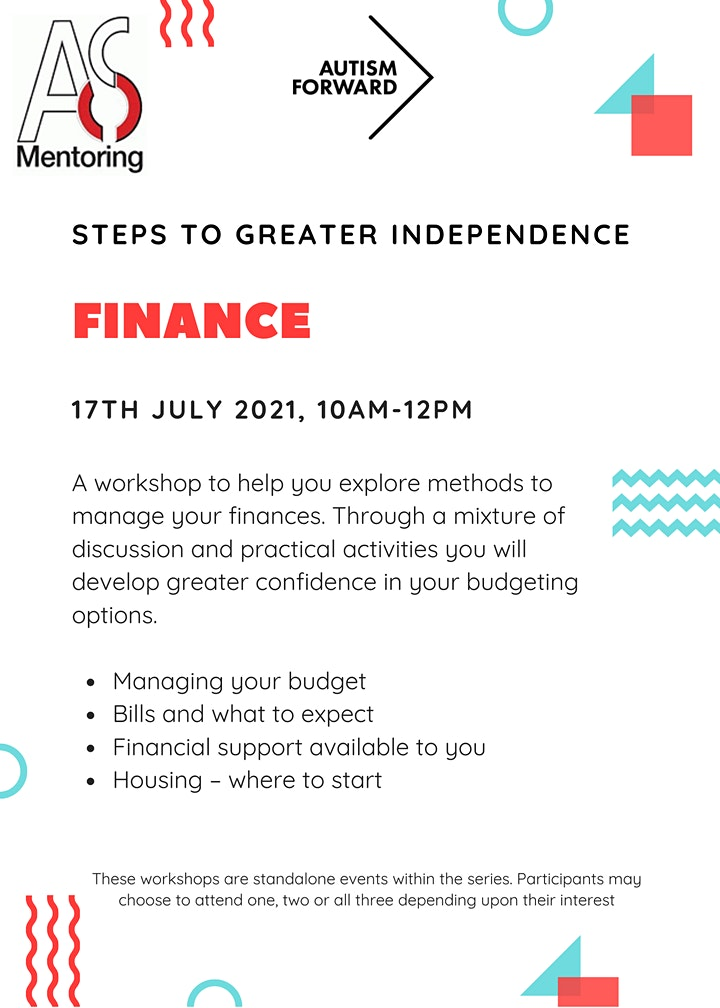 Steps to greater independence- Finance image