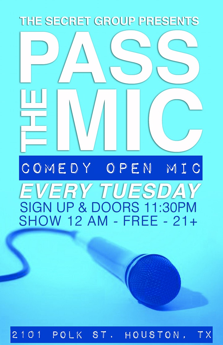 PASS THE MIC: Comedy Open Mic image