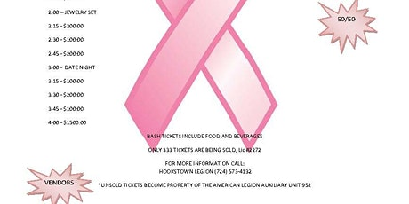 2021Breast Cancer Awareness BASH tickets