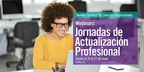Webinar Jornadas de Actualización Profesional entradas