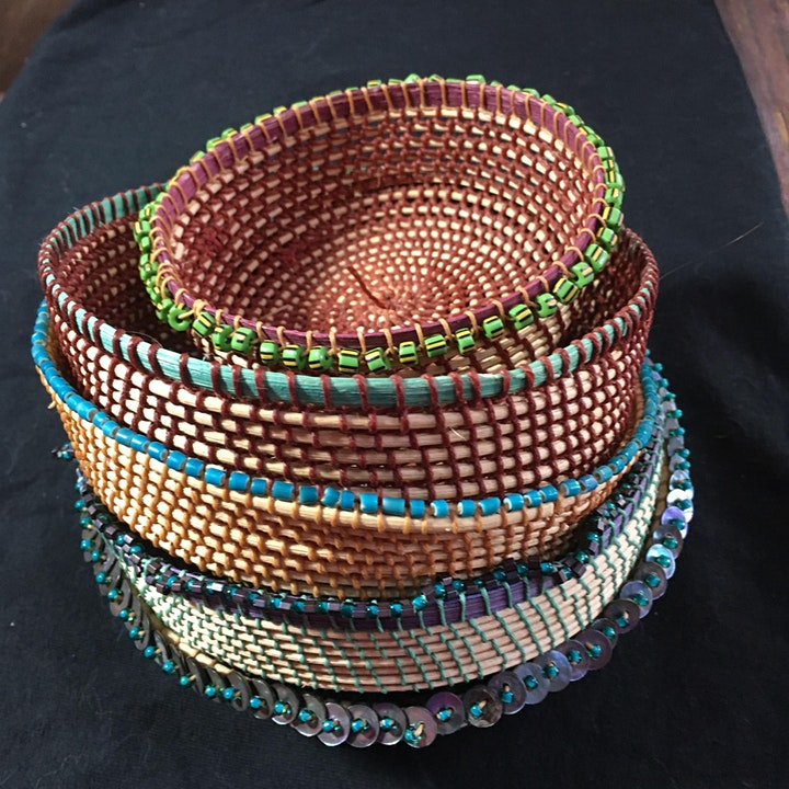 Knotless-Netted Baskets, From Top to Bottom image