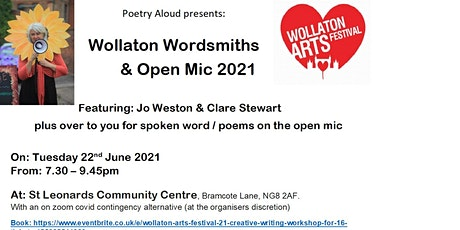 Poetry Aloud presents: Wollaton Wordsmiths and Open Mic tickets