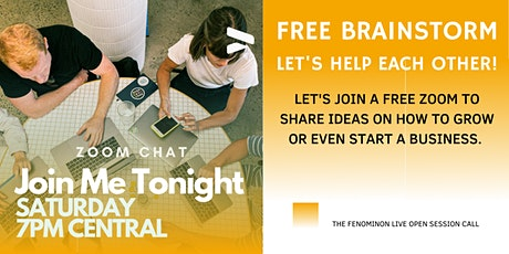 Small Business Brainstorming  - Sharing Ideas Open Chat tickets