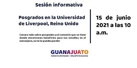 Sesión informativa JuventudEsGto -Liverpool University boletos