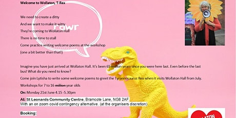 Welcome to Wollaton T Rex! Creative writing for 7 - 16 yr olds tickets