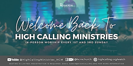 June Sunday In-Person Worship Service Registration tickets