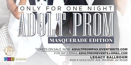 The Adult Prom Phoenix  Masquerade Party tickets