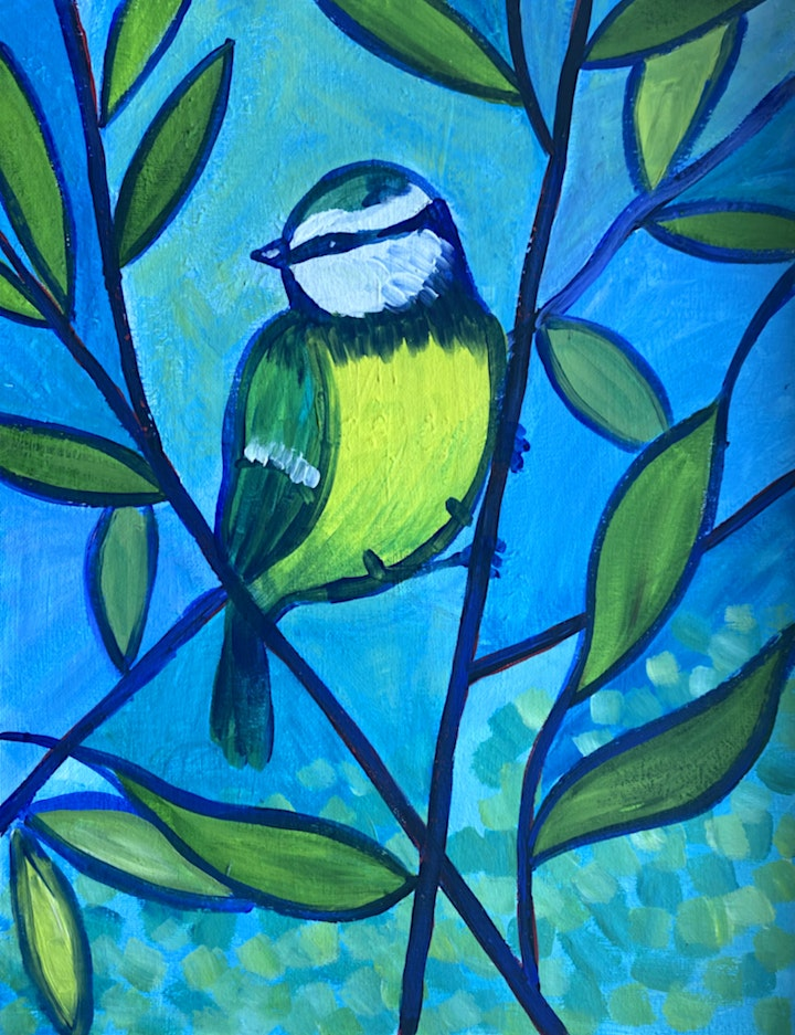 Easely Does It - Arts And Crafts Blue Tit - with Toni +14 day recording image