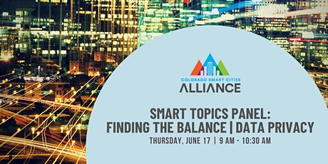 Smart Topics: Finding the Balance | Data Privacy tickets