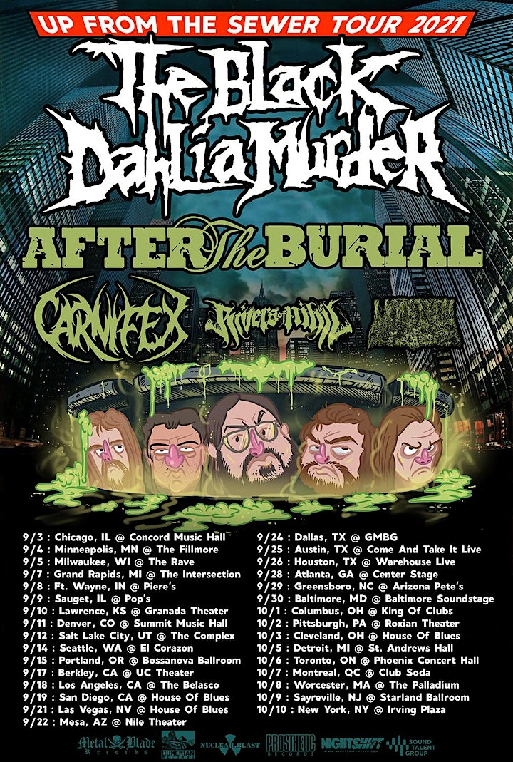 THE BLACK DAHLIA MURDER: Up From the Sewer Tour image