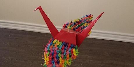 Origami Crane Workshop - 1000 Cranes Covid 19 Community Art Project (craft) tickets