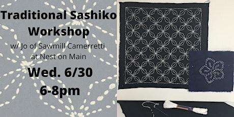 Traditional Sashiko Workshop w/Jo of Sawmill Camerretti. tickets