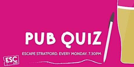 Pub Quiz @ Escape Stratford tickets