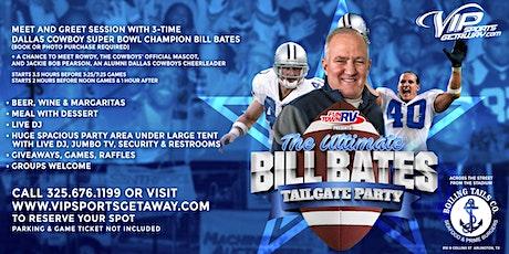 Fun Town RV Present Ultimate Bill Bates Tailgate Party-Cowboys v WASHINGTON tickets
