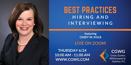 Best Practices: Hiring and Interviewing - Webinar tickets