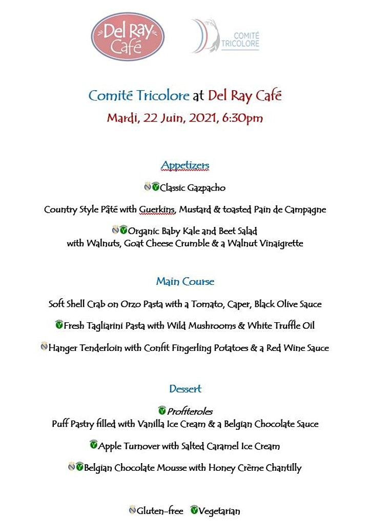 Solidarity Dinner of the Comité Tricolore at Del Ray Café image