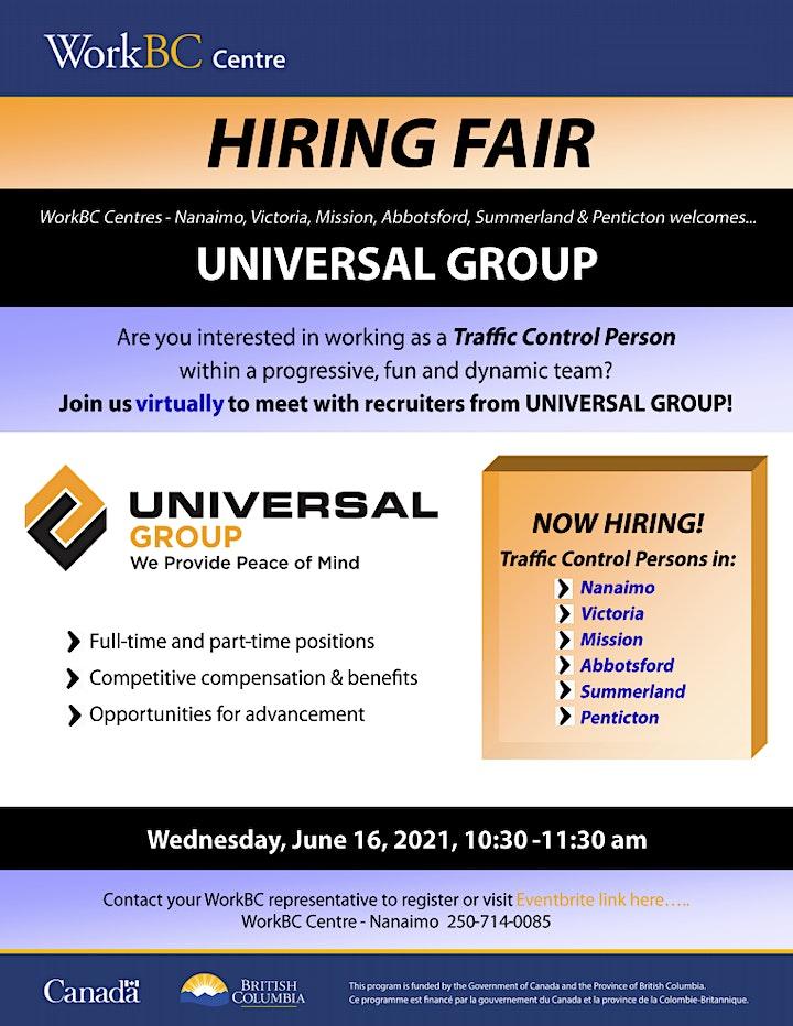 WorkBC Hiring Fair - Universal Group image