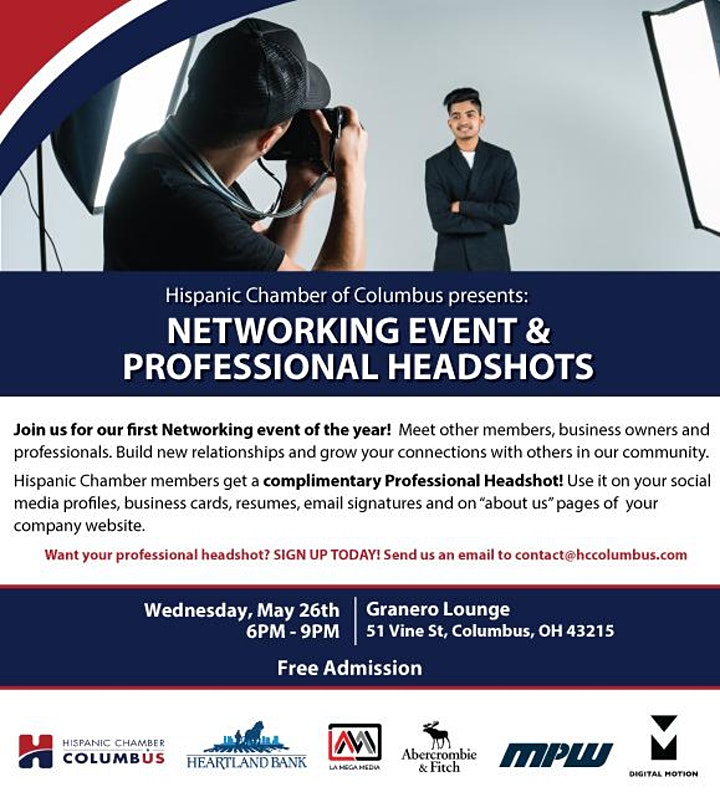 Networking Event & Complimentary Professional Headshots image