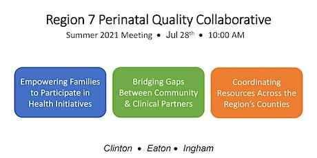 Region 7 Perinatal Quality Collaborative Summer 2021 Meeting Tickets