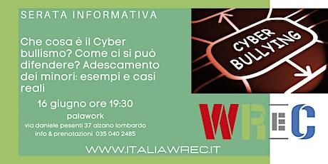 Serata informativa cyber-stalking & adescamento di minori tickets