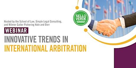 Sello Verde: Innovative trends in International Arbitration tickets