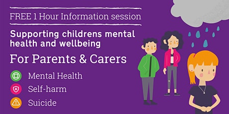 Supporting children's mental health and wellbeing tickets