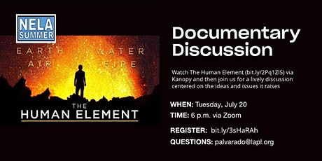 NELA Summer: Documentary discussion -- The Human Element tickets
