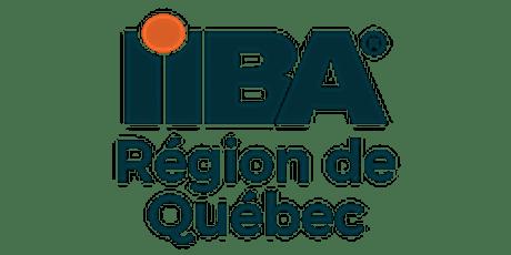 IIBA Région de Québec : Assemblée générale annuelle 2021 billets