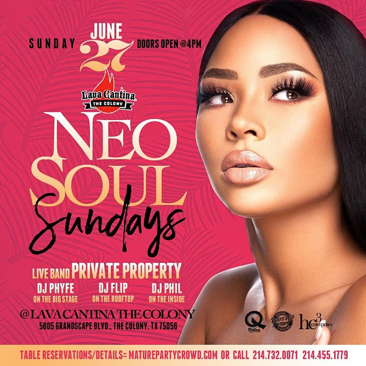 NEO SOUL SUNDAYS feat PRIVATE PROPERTY The Band image
