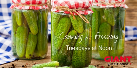 VIRTUAL August: Canning & Freezing tickets