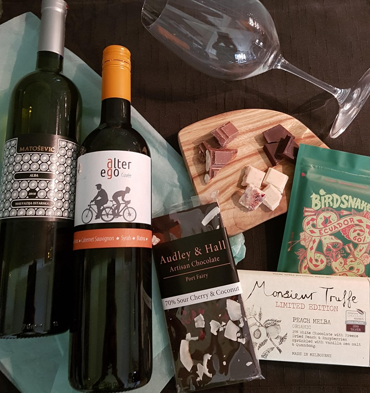 Chocolate Tasting Session: featuring Artisan Chocolates paired with Wines image