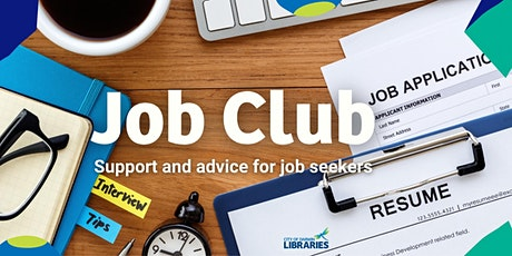 Job Club: support and advice for job seekers tickets