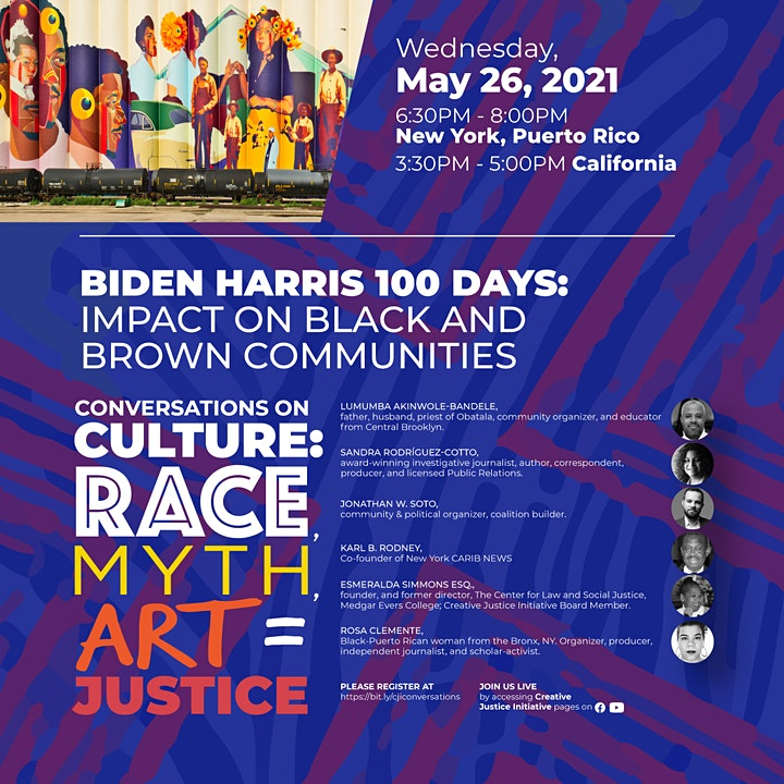 CONVERSATIONS ON CULTURE: RACE, ART, MYTH = JUSTICE image