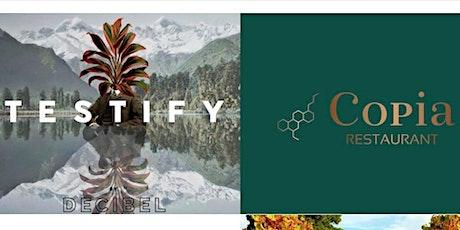 Testify/Decibel Wine Tasting & Food Pairing at Copia Restaurant tickets