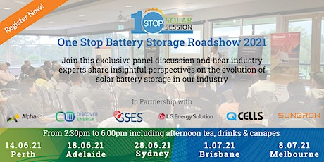 Adelaide - One Stop Battery Storage Roadshow tickets