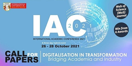IUMW Academic Conference 2021 - Digitalisation in Transformation tickets