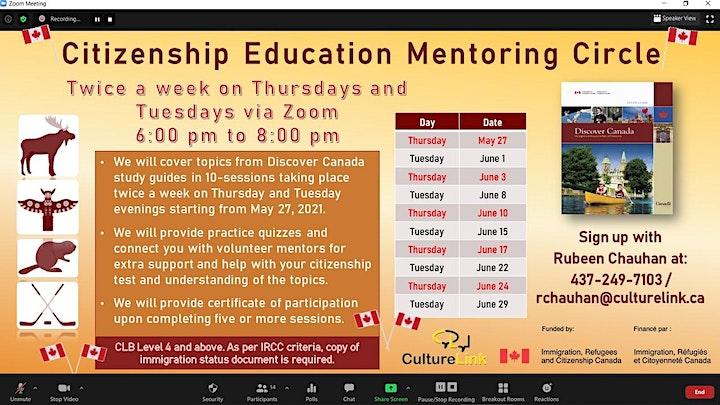 Online Canadian Citizenship Education Mentoring Circle image