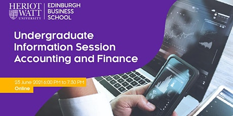 Undergraduate Information Session - Accounting and Finance tickets
