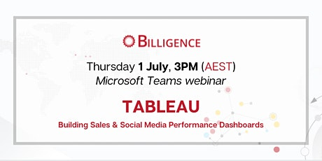 Building Sales & Social Media Performance Dashboards in Tableau tickets