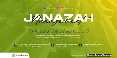Janazah Management Course (June2021) @ Still Road (2-Days) tickets