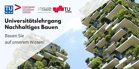 """Online Info-Session: Universitätslehrgang """"Nachhaltiges Bauen"""" tickets"""