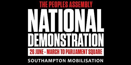 Southampton National Demo Travel - 26.6.21 tickets