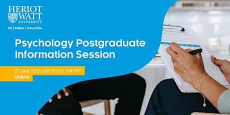 Psychology Postgraduate Information Session tickets