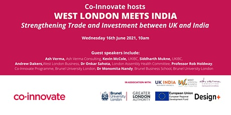 Co-Innovate West London Meets India Conference (UK-India Relations) tickets