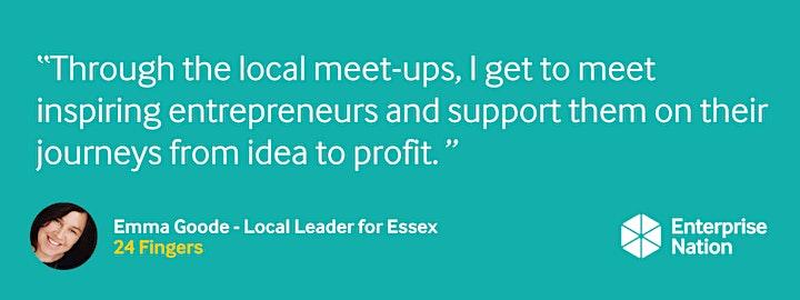 Online small business meet-up: Essex image
