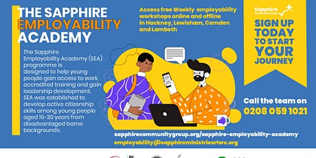 Sapphire Employability Academy - Support with CV and Interview Skills tickets